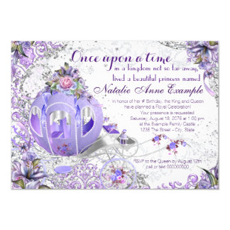 Fairy Tale Once Upon a Time Birthday Party 13 Cm X 18 Cm Invitation Card