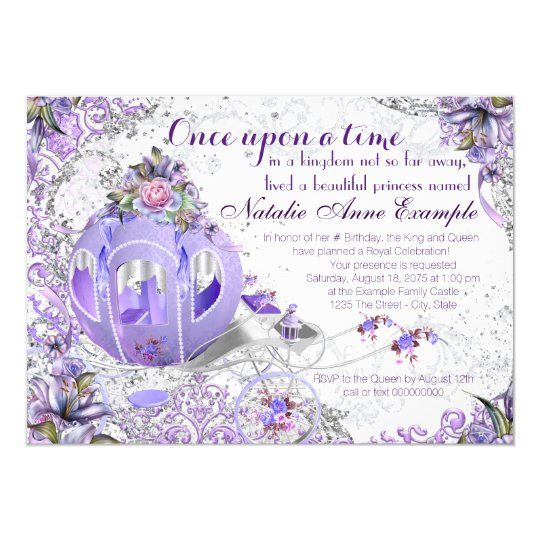 fairy tale once upon a time birthday party 13 cm x 18 cm invitation card zazzle. Black Bedroom Furniture Sets. Home Design Ideas