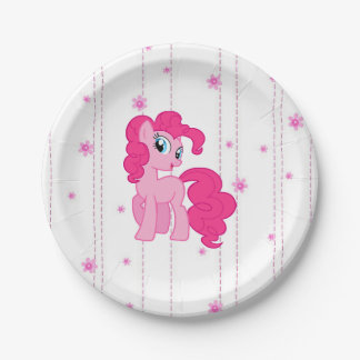 Fairy tale Pink Pony Birthday Party Plates