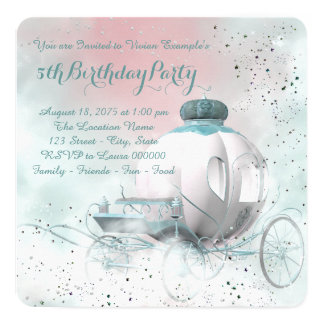 Fairy Tale Princess Birthday Party 13 Cm X 13 Cm Square Invitation Card