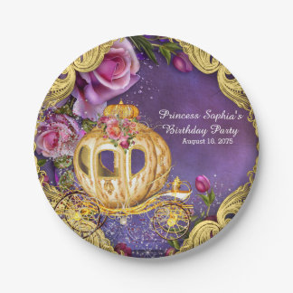 Fairy Tale Princess Birthday Party 7 Inch Paper Plate