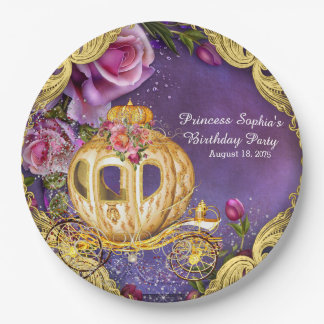 Fairy Tale Princess Birthday Party 9 Inch Paper Plate