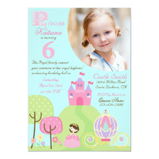 Fairy Tale Princess Sixth Birthday Invitation