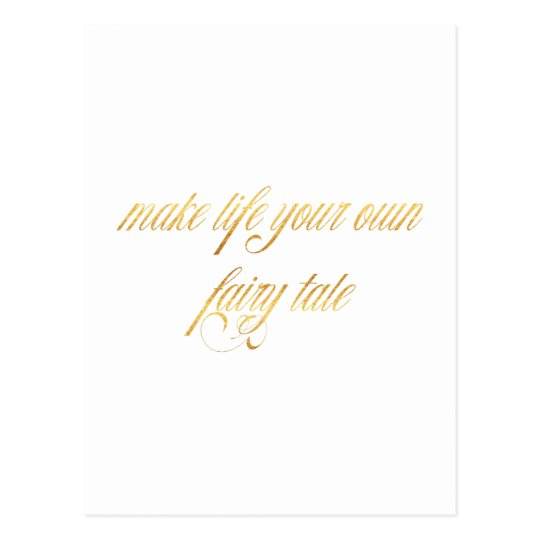 Fairy tale Quote Gold Faux Foil Fairytales Quotes