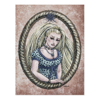 Fairy Tale Rapunzel Fantasy Art Postcard 1