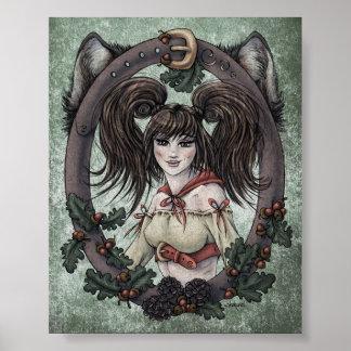 "Fairy Tale ""Red Riding Hood"" 4x5 Art Print"