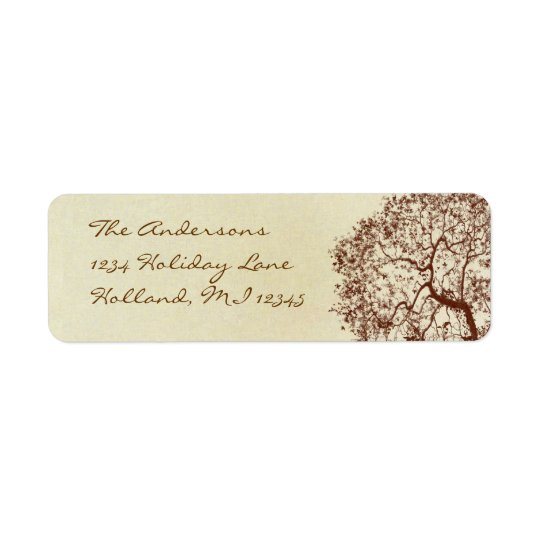 Fairy Tale Rustic Forest Brown Tree Return Address Return Address Label