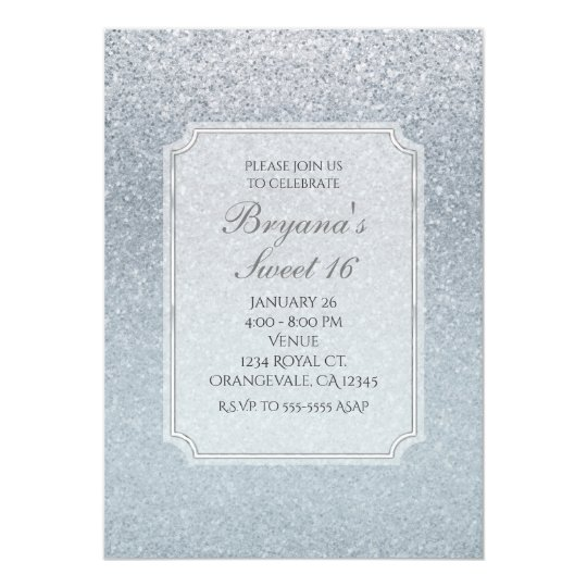 Fairy Tale Silver Glitter Sparkle Party Invitation