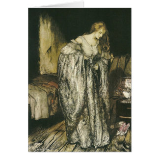 Fairy Tale Sparkle Dress by Arthur Rackham Greeting Card