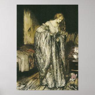 Fairy Tale Sparkle Dress by Arthur Rackham Poster