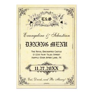 Fairy Tale Storybook Wedding Menu Cards 13 Cm X 18 Cm Invitation Card