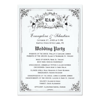 Fairy Tale Storybook Wedding Programs 13 Cm X 18 Cm Invitation Card