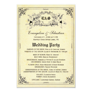 Fairy Tale Storybook Wedding Programs 9 Cm X 13 Cm Invitation Card
