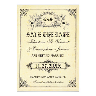 Fairy Tale Storybook Wedding Save the Date Cards 13 Cm X 18 Cm Invitation Card