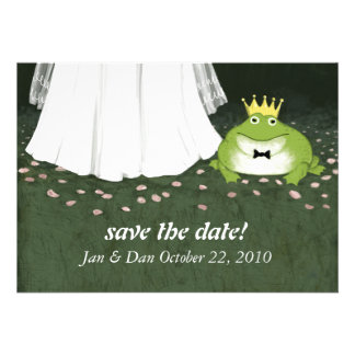 Fairy Tale Wedding Frog Prince Announcement