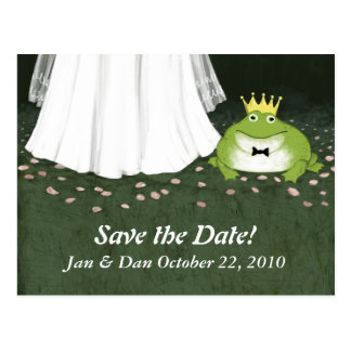 Fairy Tale Wedding Frog Prince Save the Date Postcard