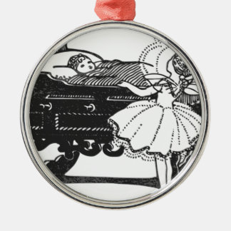 fairy-tales Silver-Colored round decoration