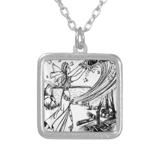 fairy-tales silver plated necklace