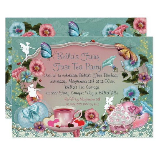 Flower Fairy Invitations Announcements – Fairy Tea Party Invitations