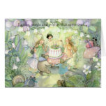 Fairy tea party invitations greeting card