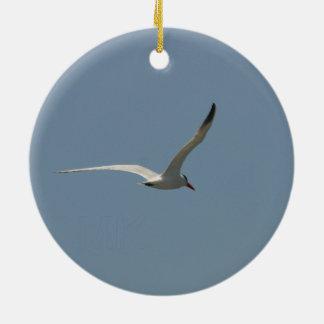 'Fairy Tern in Flight' by Miriam A Kilmer Round Ceramic Decoration