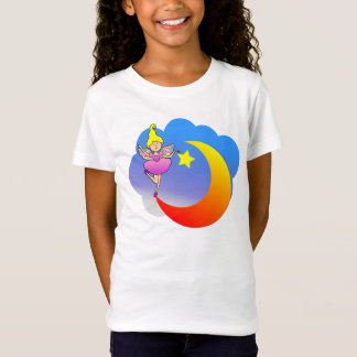 Fairy Tip-toeing on a Crescent Moon.  Products spo T-Shirt