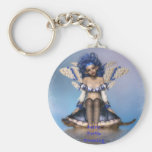Fairy Turtle Crossing II Basic Round Button Key Ring