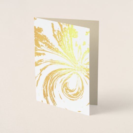 """Fairy Wand"" Blank Gold Foil Card w/envelope"