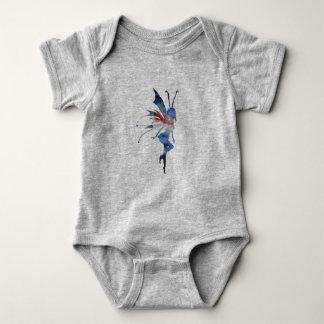 Fairy Watercolor Art Baby Jersey Bodysuit, White Baby Bodysuit