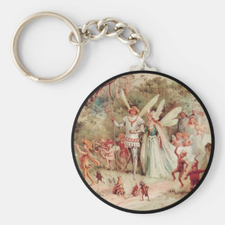 Fairy Wedding Basic Round Button Key Ring