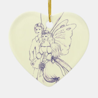 Fairy Wedding Christmas Ornament
