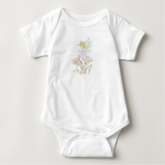 Fairy white baby bodysuit
