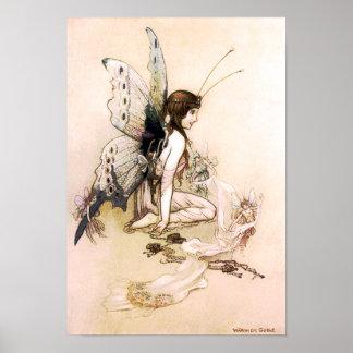 Fairy Wings Fine Art by Warwick Goble Print