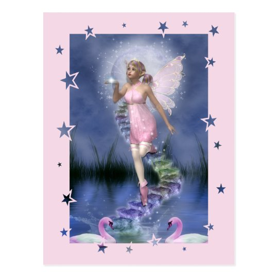 fairy wishes postcard