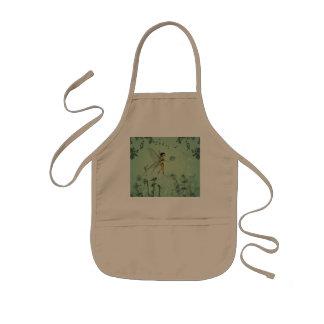 Fairy with dandelion kids apron