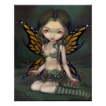Fairy with Dried Flowers ART PRINT fantasy faery