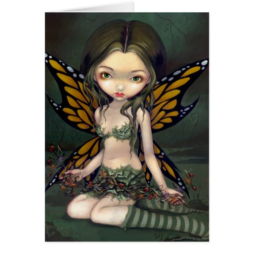 """""""Fairy with Dried Flowers"""" Greeting Card"""