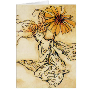 Fairy with Flower Greeting Card