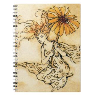 Fairy with Flower Spiral Notebook
