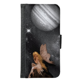 Fairy with moon background samsung galaxy s6 wallet case