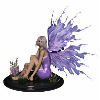 Fairy with mutli-colour purple wings sculpture acrylic cut outs