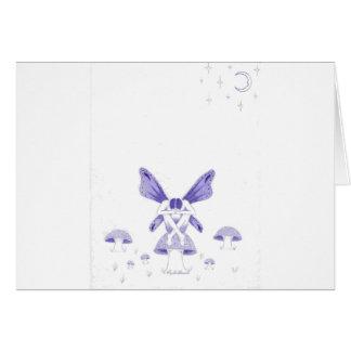 fairy with poison mushroom.jpg greeting card
