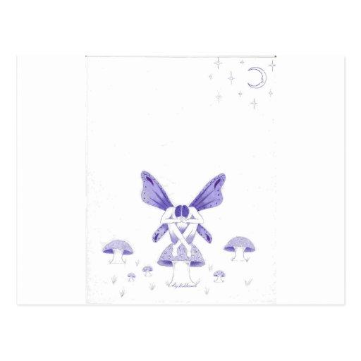 fairy with poison mushroom.jpg postcard