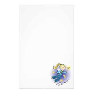 Fairy with Stars Custom Stationery
