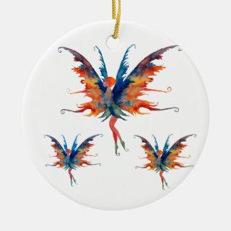 Fairy with wings Ceramic Decoration Round Ceramic Decoration