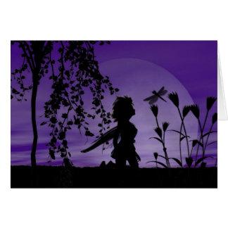 Fairy Wonder Siluetts Greeting Card