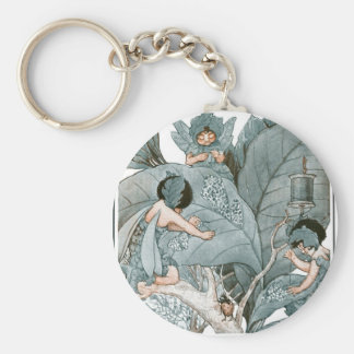 Fairy World - The Leaf Makers Basic Round Button Key Ring