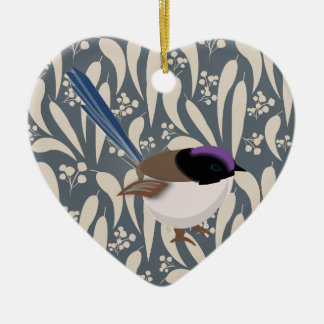 Fairy Wren Christmas Ornament