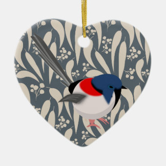 Fairy Wrens Christmas Ornament