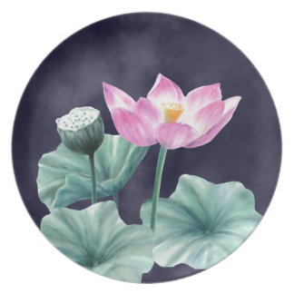 FAIRYLAND LOTUS FLOWER MELAMINE PLATE